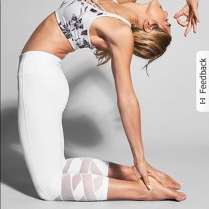 ATHLETA White Mantra Capri Leggings White Mesh XS